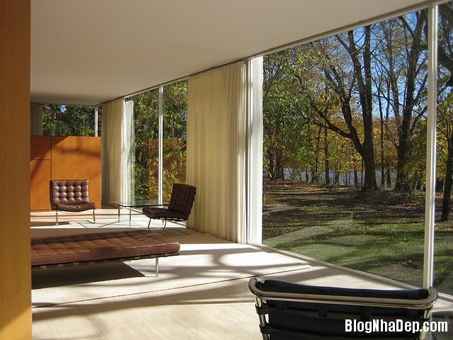 nha kinh farnswoth 15 Farnsworh House   Ngôi nhà kính đẹp hoàn hảo