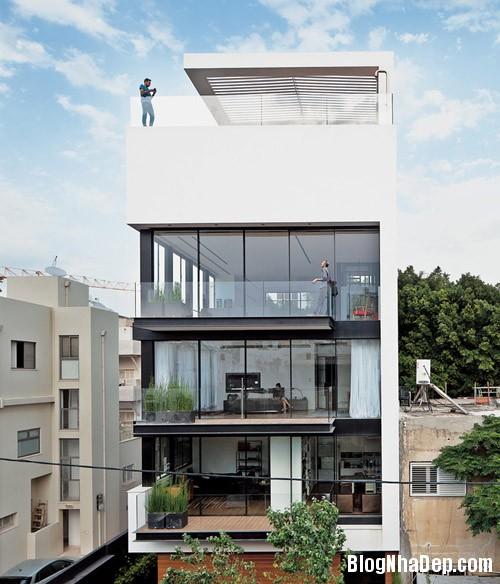nha pho cao tang dep nhu resort 1 Ngắm ngôi nhà phố hiện đại sáu tầng ở Tel Aviv