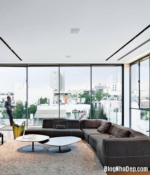 nha pho cao tang dep nhu resort 2 Ngắm ngôi nhà phố hiện đại sáu tầng ở Tel Aviv