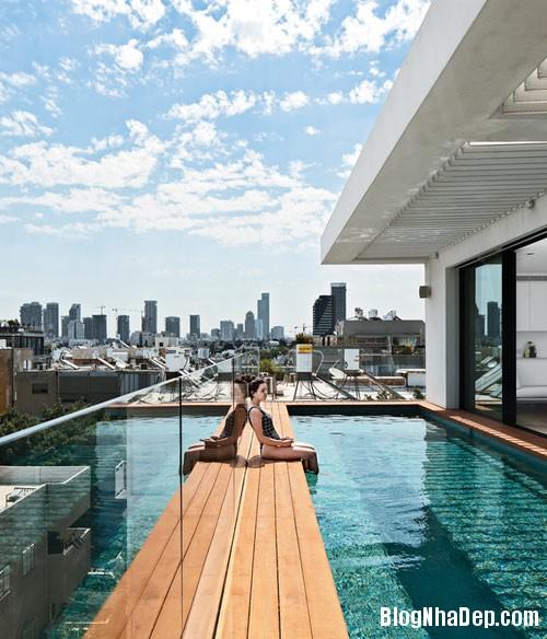 nha pho cao tang dep nhu resort 3 Ngắm ngôi nhà phố hiện đại sáu tầng ở Tel Aviv
