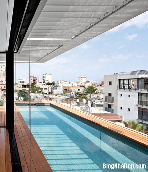 nha pho cao tang dep nhu resort 7 Ngắm ngôi nhà phố hiện đại sáu tầng ở Tel Aviv