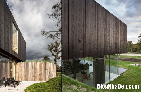 nha sau lop co 5 Ngôi nhà hiện đại ẩn mình sau đám cỏ xanh mướt