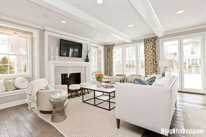 noi that phong khach tan co dien mau trang Cách sử dụng màu trắng trong trang trí nội thất phòng khách