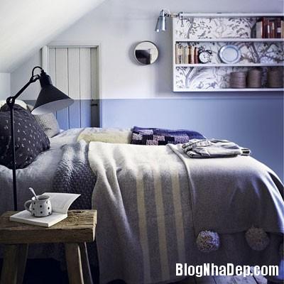 phong ngu mau xanh 10 Đem sắc xanh vào phòng ngủ