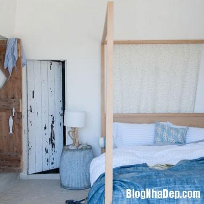 phong ngu mau xanh 2 Đem sắc xanh vào phòng ngủ