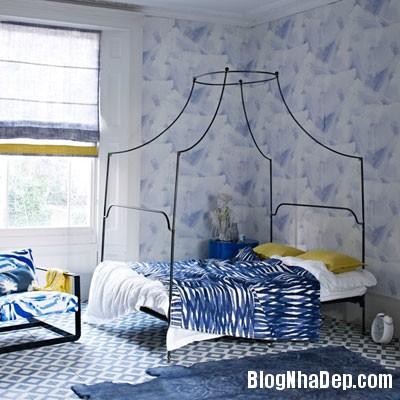 phong ngu mau xanh 3 Đem sắc xanh vào phòng ngủ
