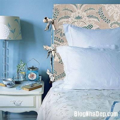 phong ngu mau xanh 4 Đem sắc xanh vào phòng ngủ