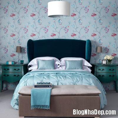 phong ngu mau xanh 6 Đem sắc xanh vào phòng ngủ