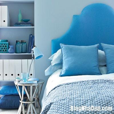 phong ngu mau xanh 7 Đem sắc xanh vào phòng ngủ