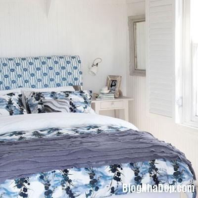 phong ngu mau xanh 8 Đem sắc xanh vào phòng ngủ