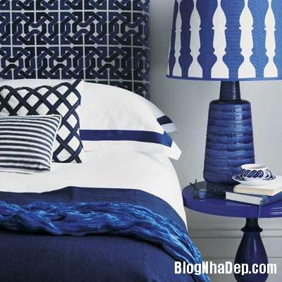 phong ngu mau xanh 9 Đem sắc xanh vào phòng ngủ