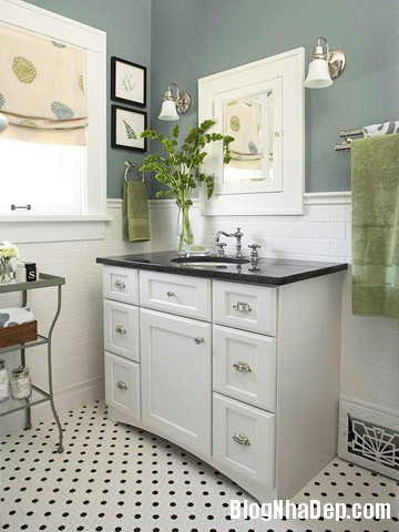 phong tam su dung lo hoa4 Chọn nội thất đẹp cho phòng tắm nhỏ