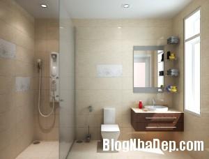phong tam su dung vach kinh 300x228 Chọn nội thất đẹp cho phòng tắm nhỏ