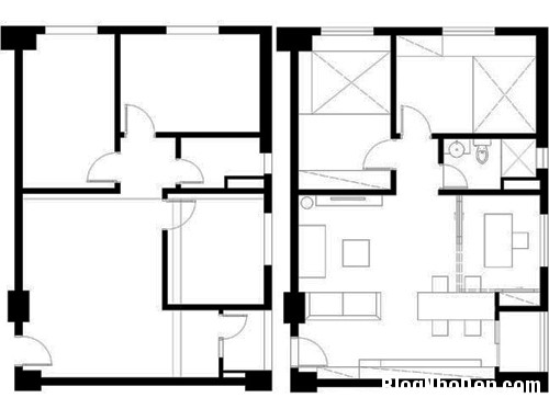 thiet ke nha 71m tai dinh cu 6 Mê mẩn với thiết kế căn hộ tái định cư 71m2