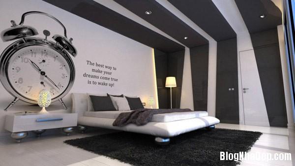 trang tri noi that phong ngu mau xam 1 Thiết kế nội thất phòng ngủ đẹp với màu xám