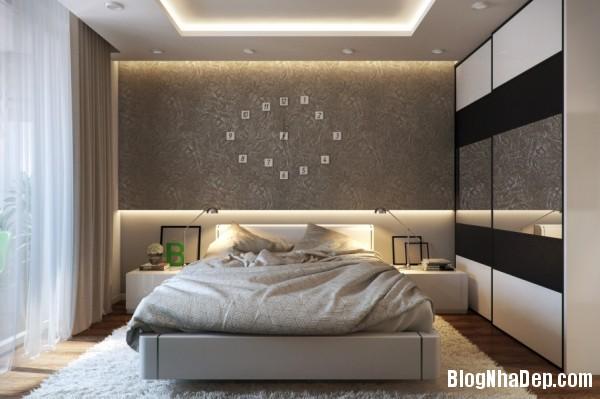 trang tri phong ngu 4 Tạo không gian phòng ngủ ấm cúng sang trọng