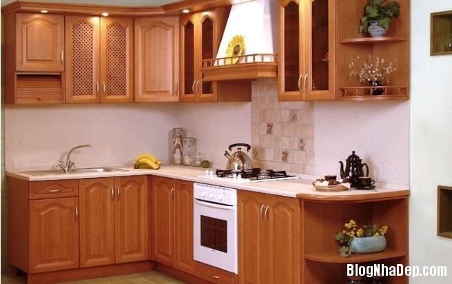tủ bếp đẹp05 2012 Tạo không gian ấm cúng trong căn bếp nhỏ