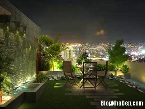 vuon san thuong04 6553 1404458172 Bố trí vườn trên sân thượng