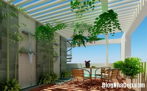 vuon san thuong05 7172 1404458165 Bố trí vườn trên sân thượng