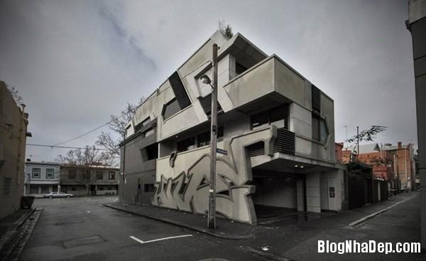 3f5d4801cc30af8f105f63fee4760055 Ngôi nhà ấn tượng gợi nhớ tới những bức vẽ graffiti bắt mắt trên đường phố