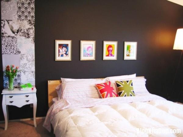 1d6eb2c68f8e18999e349d69940829d0 Bức tường màu đen cá tính trong phòng ngủ