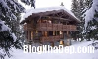 365323 a Ngôi nhà gỗ ấm áp trên đỉnh Alps tuyết trắng
