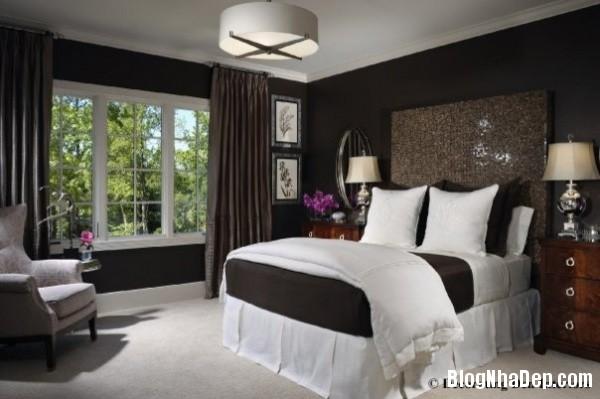 67ef740d5ce24e9e05eef03a36ada942 Bức tường màu đen cá tính trong phòng ngủ