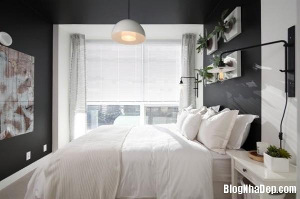 d8f1c189cbb7f21cadd4a0edc48984b4 Bức tường màu đen cá tính trong phòng ngủ