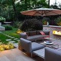 Modern Patio Furniture Modern Landscape Design Outdoor Fireplace