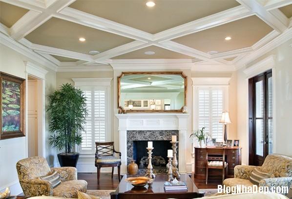 138e27076c8ff430113dce91ac485bed Mẫu phòng khách truyền thống có thiết kế trần nhà chia ô