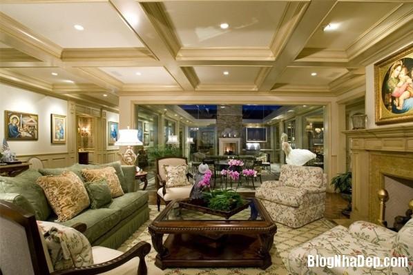 1c269b112e7b6fe2ac6bfbeea60b5bcb Mẫu phòng khách truyền thống có thiết kế trần nhà chia ô