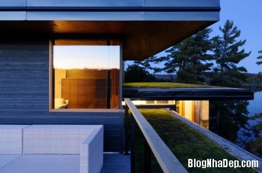 4f031bb77b93582edf29490c9ea0a5f0 Ngôi nhà bằng gỗ bên bờ hồ yên bình Muskoka,Canada
