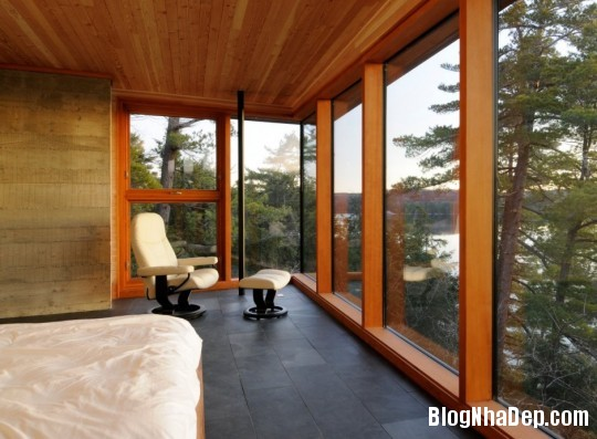 c8fc4712a1c6d6b1f69835617865e26d Ngôi nhà bằng gỗ bên bờ hồ yên bình Muskoka,Canada