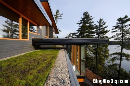 df5f520158e852167899273f5c65307d Ngôi nhà bằng gỗ bên bờ hồ yên bình Muskoka,Canada
