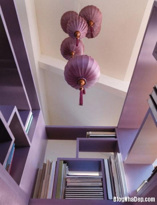 fb3106732a73afb7a82f1186177a7a1e Căn nhà lãng mạn với tông màu tím ngọt ngào