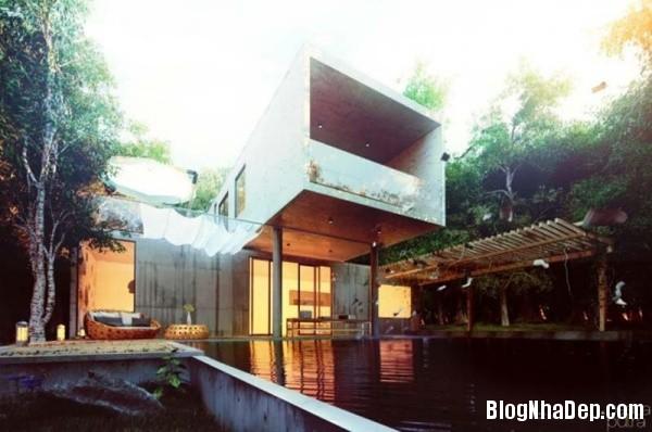 19f7474ea86df3aa56989cf4e8b55ea5 Ngôi nhà tinh khôi với kiến trúc độc đáo nằm giữa khu rừng yên tĩnh