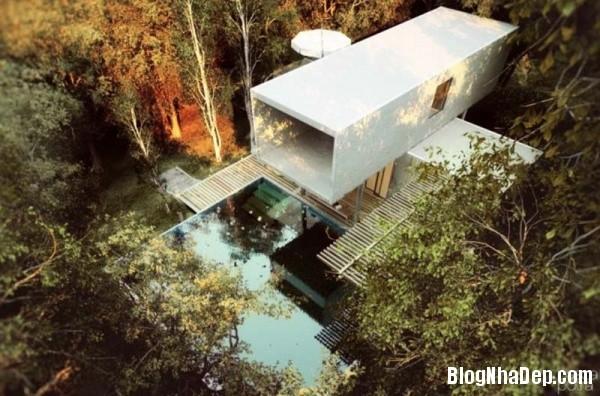 a25b4ed86f6aefb8746528f3c6888034 Ngôi nhà tinh khôi với kiến trúc độc đáo nằm giữa khu rừng yên tĩnh