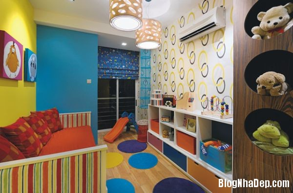 aee78a70bba5fdde0c01f08faf3b1046 Những mẫu thiết kế phòng trẻ em vui tươi và sống động