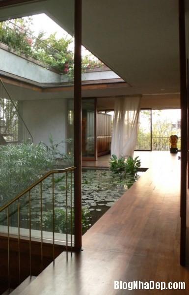 2ea8ab3e462787069d046573a45267df Ngôi nhà miền quê bình yên với hồ sen trong nhà