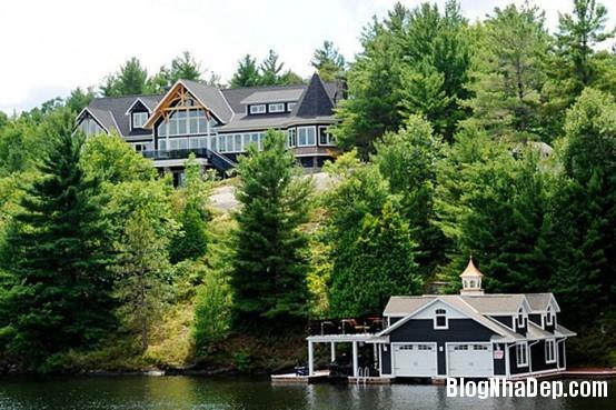bf249aab9fd9623929d9f2c1e8451531 Ngôi nhà gỗ ấn tượng tại Canada