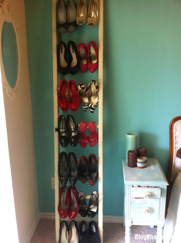 0010929612bee8b8553c4e41971bc59e Thiết kế chỗ đựng giày khá xinh và lạ từ cầu thang cũ hay tấm ván cũ