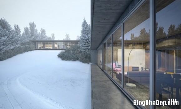 0db99534ba1ed3c9ea526714b7533da1 Ngôi nhà với tông màu đen nằm giữa một vùng tuyết trắng