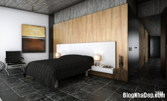 c5003e09c41455a501d4abd8959e0e66 Ngôi nhà với tông màu đen nằm giữa một vùng tuyết trắng