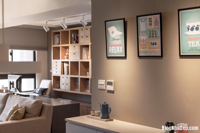 cute graphic art Căn hộ hiện đại với chất liệu hoàn toàn từ gỗ