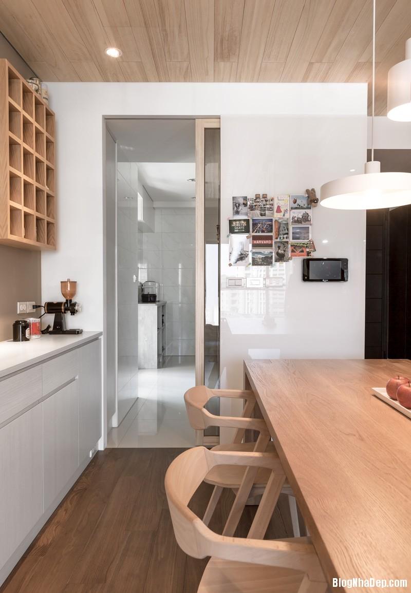 white kitchen design Căn hộ hiện đại với chất liệu hoàn toàn từ gỗ