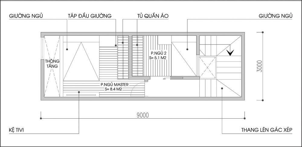 20141111074652084 Tư vấn xây nhà trên mảnh đất diện tích 3x9m hướng đông nam