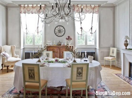 5ec9d8584fbd290ce69485bf2e62b387  Phòng ăn đẹp quyến rũ, nhẹ nhàng theo phong cách Pháp