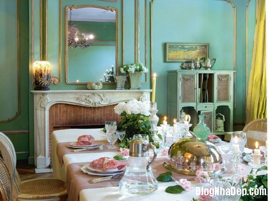 82388355c7d6276b2302898a6ece5115  Phòng ăn đẹp quyến rũ, nhẹ nhàng theo phong cách Pháp