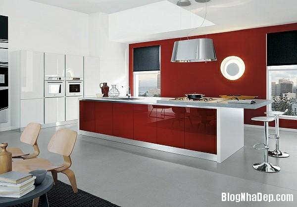 88cf5cbd199e85039d87263590de1ccb Phòng bếp tràn đầy năng lượng với sắc đỏ