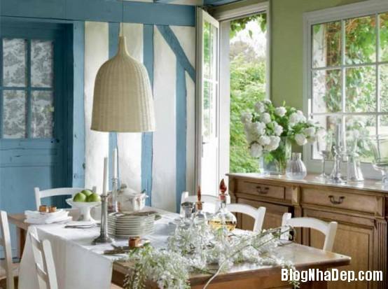 9ae1749f862d51be38a10de227daefee  Phòng ăn đẹp quyến rũ, nhẹ nhàng theo phong cách Pháp